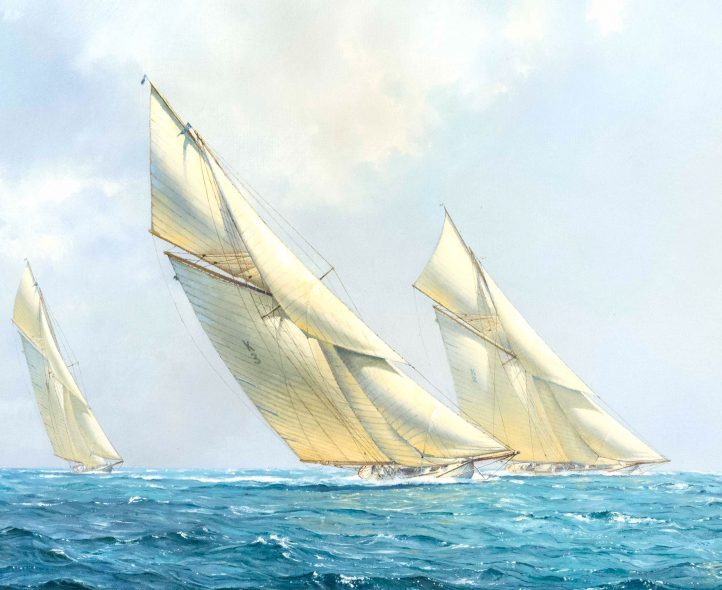 Painting of Yachts - marine art from Eldred's